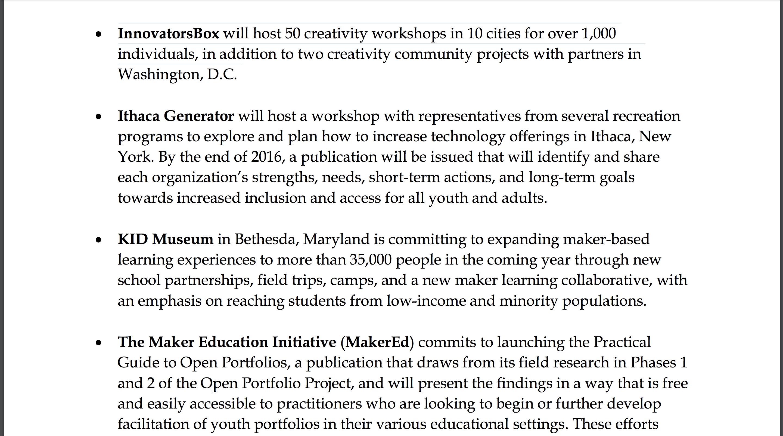 xMonica Kang | White House National Week of Making